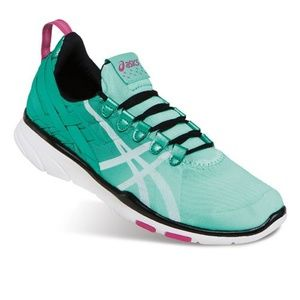 Asics Gel Fit Sana green & white Cross Trainers